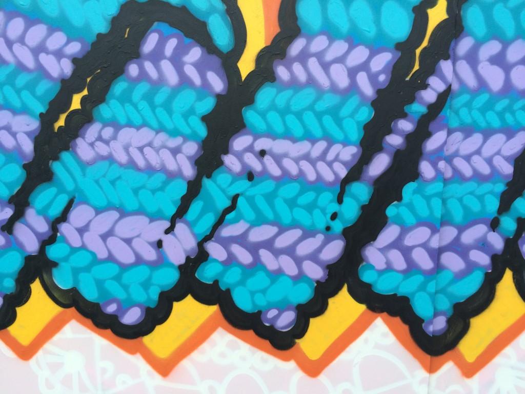 Candie graffiti UpFest 2015 woolen knitted doily