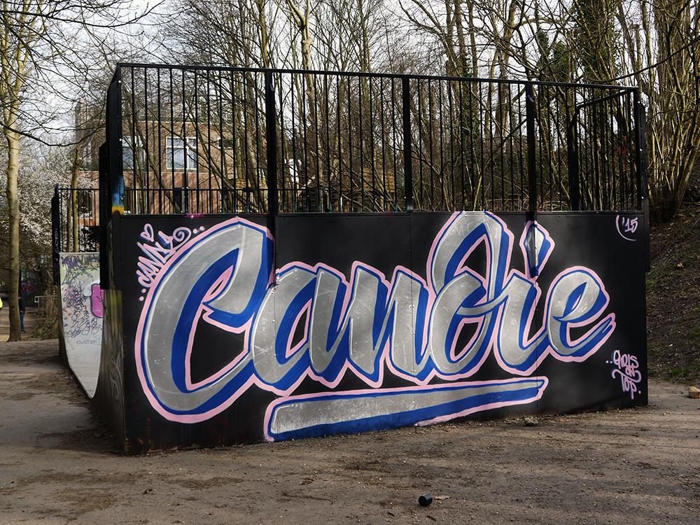 Candie graffiti - Parklands Walk