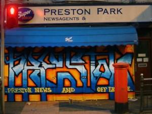 Preston newsagent shutter